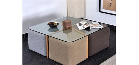 table basse avec tabourets integres maison design sibfa