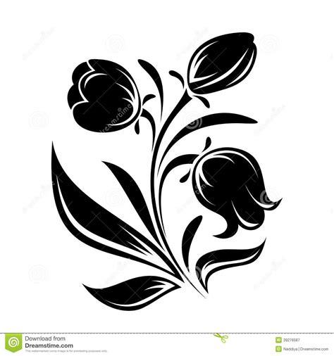 Azuzena Flower Template by Silueta Negra De Flores Ejemplo Del Vector Ilustraci 243 N