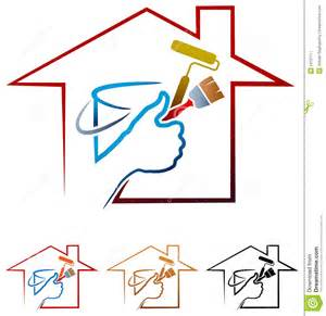house painting logo stock vector image 53157117