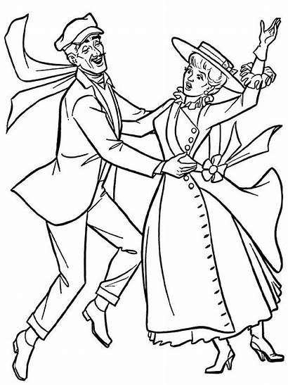 Coloring Pages Mary Poppins Printable Colors Getcolorings