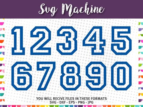 svg sport numbers varsity block number college numbers