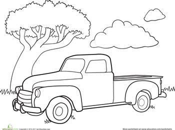 color  car classic truck worksheet educationcom truck coloring pages classic truck