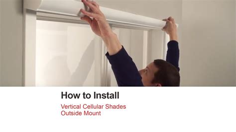 how to install a l shade bali blinds how to install vertical cellular shades