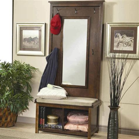 Entryway Benches With Storage And Coat Rack - hallway entryway tree bench coat rack storage shoe