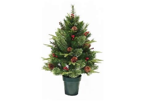 3ft Colonial Fir Potted Feel-real Artificial Christmas