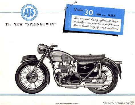 ajs 1956 30 quot springtwin quot 600cc