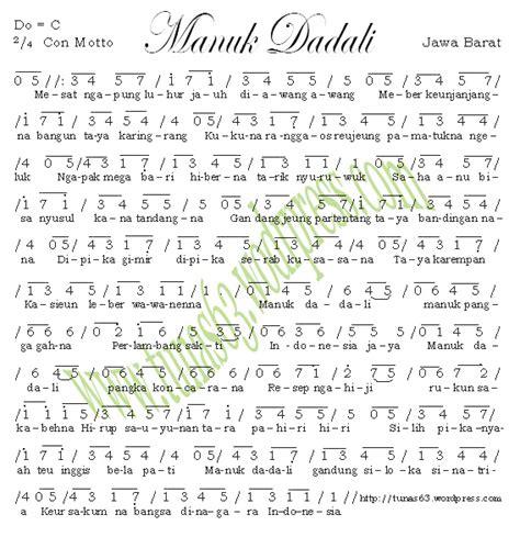 not balok lagu suwe ora jamu not angka manuk dadali tunas63