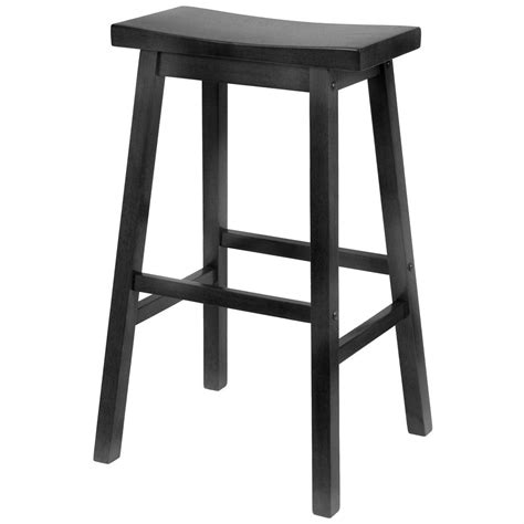 winsome black saddle seat 29 quot bar stool 150982 kitchen