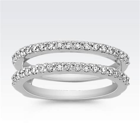 diamond double band solitaire engagement ring guard solitaire engagement