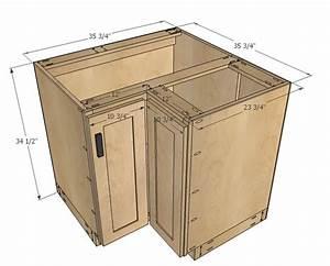 "Ana White 36"" Corner Base Easy Reach Kitchen Cabinet"