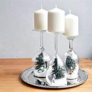 Weihnachtsdekoration Selber Basteln : weihnachtsdekoration basteln mit kerzen und gl sern ~ Articles-book.com Haus und Dekorationen