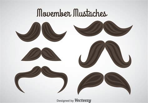 Movember Mustaches Vector - Download Free Vector Art ...