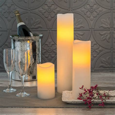 lights flameless candles pillar candles