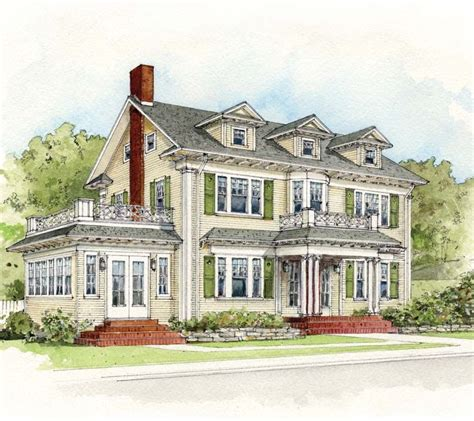Colonial Revival House Plans by Colonial Revival Homes Floor Plans