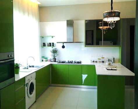 cuisine verte et marron cuisine vert