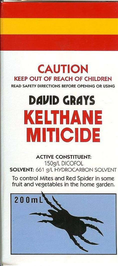 miticide for spider mites kelthane miticide spray 200ml david grays dicofol mites 7541