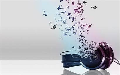 Headphones Notes Backgrounds Headphone 3d Wallpapers Abstract