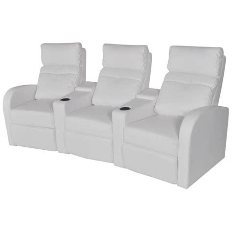 canap inclinable acheter canapé inclinable cinéma maison 3 sièges en cuir