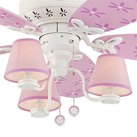 hunter dreamland ceiling fan hunter dreamland 44 in white and pink kids downrod or