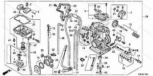 Honda Motorcycle 2012 Oem Parts Diagram For Carburetor