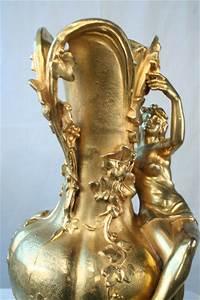 ferville suan nouveau antique gold gilded figural