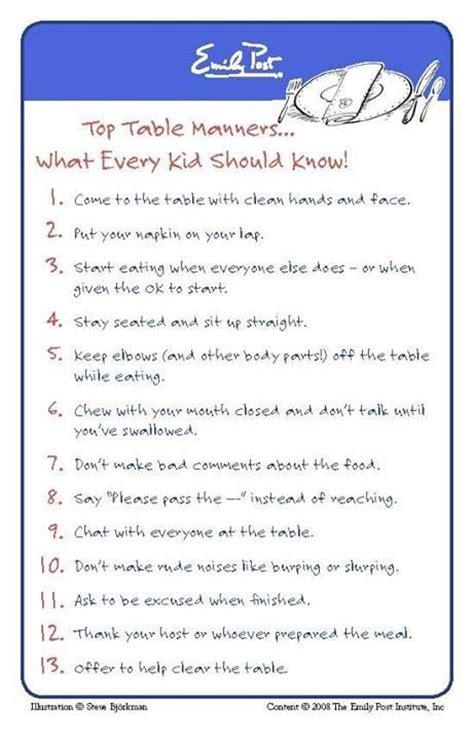 basic parenting etiquette rules