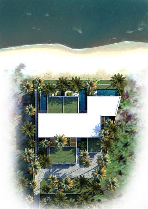 private beach villas offer spectacular ocean views