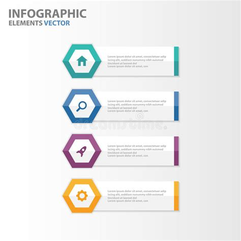 Colorful Infographic Presentation Template Brochure Flyer Colorful Hexagon Banner Infographic Elements Presentation