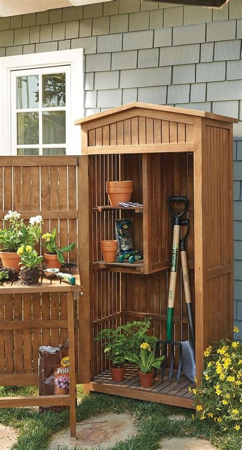 small outdoor storage cabinet 27 unique small storage shed ideas for your garden