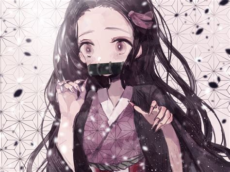 anime kimetsu  yaiba nezuko wallpapers wallpaper cave