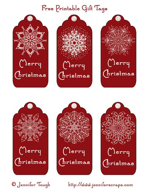6 best images of free printable gift tags merry christmas