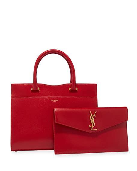 saint laurent uptown medium ysl leather satchel bag neiman marcus