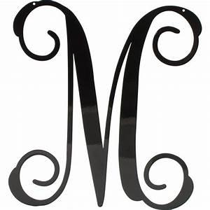 12 5 U0026quot  Black Vine Script Metal Letter  M  1951