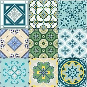 Stickers Carreaux De Ciment : 9 stickers carreaux de ciment azur en art et design ~ Melissatoandfro.com Idées de Décoration