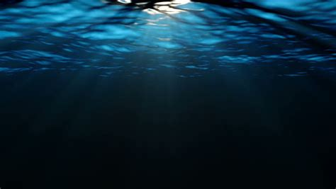 depth ocean sea underwater animated background stock