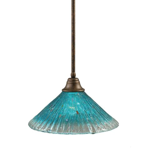 teal glass pendant filament design concord 1 light bronze pendant with teal
