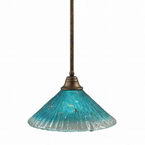 Filament design concord light bronze pendant with teal