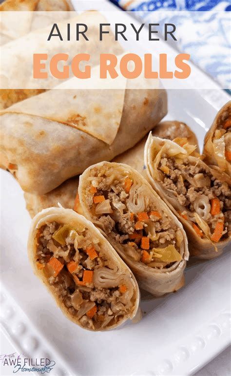 fryer air egg rolls filling pot instant recipe using food filled recipes awefilledhomemaker awe homemaker roll fry healthy cooking breakfast