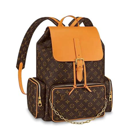 louis vuitton lv men backpack trio  monogram canvas
