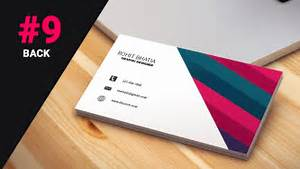 9 how to design business cards in photoshop cs6 pink back youtube With business card design photoshop