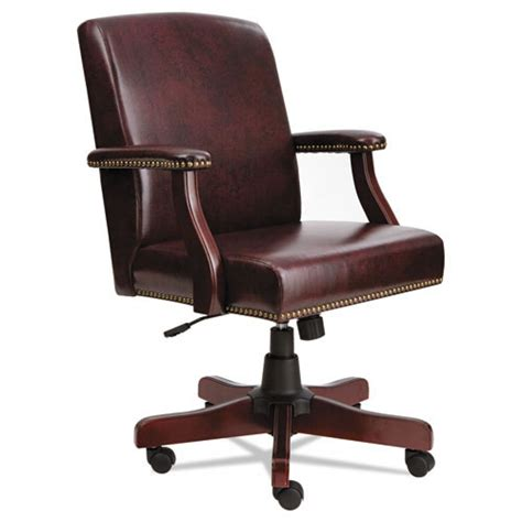 Alera Office Chair by Alera Mid Back Traditional Office Chair Oxblood Vinyl