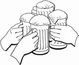 Beer Coloring Oktoberfest Cheers Pages Holiday Drawing Colorear Para Cerveza Jarros Dibujo Coloringonly Supercoloring Getdrawings Brindis Categories Cuatro Con Jarras sketch template