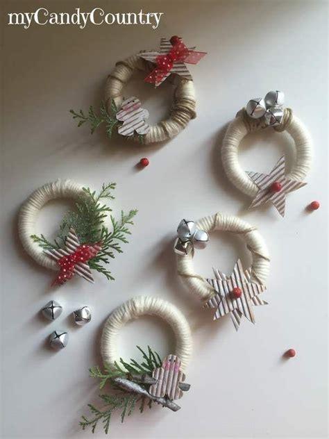 tende natale ghirlande natalizie riciclando anelli delle tende natale