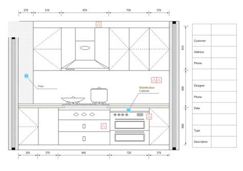 template for kitchen design exles of kitchen elevation 6027