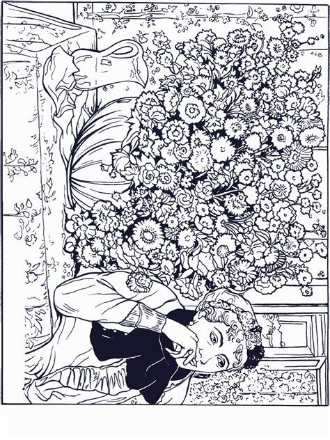 famous painters  paintings coloring pages