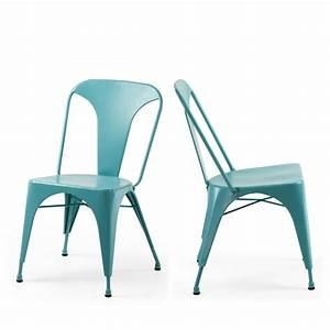 Chaise Industrielle Metal : chaise design m tal style industriel mali by ~ Teatrodelosmanantiales.com Idées de Décoration