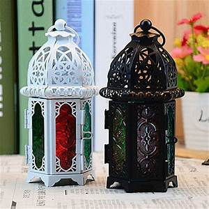 1, Pc, Classic, Moroccan, Decor, Candle, Holders, Votive, Iron, Glass, Hanging, Candlestick, Candle, Lantern