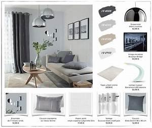 planche de style deco pour un cocon scandinave dans la With couleur pour le salon 0 des rideaux gris argent matieres pour un salon au style