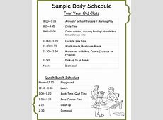 Crossing Point Christian School Sample Daily Schedule