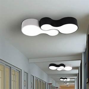 Eclairage Moderne : lustre led plafonnier plafonnier led moderne noir blanc eclairage clairage la maison lamparas ~ Farleysfitness.com Idées de Décoration